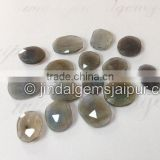 Wholesale Labradorite Rose Cut Flat Cabochons 10 To 15 MM