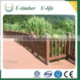 Fully recyclable Less cracking WPC wood plastic composite fence