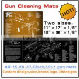 Custom design printed AR-15,AK47,Glcok,1911 gun cleaning mat,gun mat for rifle & pistol preparing and cleaning