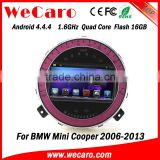 Wecaro Android 4.4.4 car multimedia system 1024 * 600 for mini cooper stereo radio gps 1080p 2006 - 2013                                                                         Quality Choice
