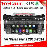 Wecaro WC-NT8061 Android 4.4.4 car stereo 1024 * 600 for nissan teana car dvd gps WIFI 3G 16GB Flash 2013 2014 2015