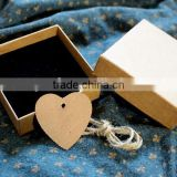 Hot Sale Vintage Engagement Kraft Paper Gift Packaging Cardboard Box Lining Velvet P1851