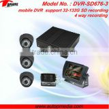 "DVR-SD676C car dvr black box with rearview camera & 7"" LCD monitor for vehicles,support SD recording"