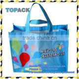 Alibaba china PP laminated fabric non woven shopping bag, tote reusable plastic shopping bag