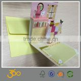 lovely paper card,hot sale new born baby greeting card good quality