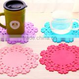 wholesale wedding kit bulk light tea cup drink coaster/silicone rubber anti-slip beer mat/custom soft pvc coasters