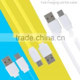 GOLF fast charging USB flat cable for android phone quick charge and data noodle micro cable for android device