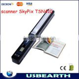New Wireless Mini Portable push-button scanner SkyPix TSN410 support TF card memory storage color scanner