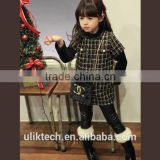 wholesale girls fabric 2015 fancy dress for girls retro dress beautiful plaid dress for girls casual girls dress