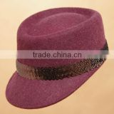 Custom Wool Felt Ivy Women Cap Hat Wholesale Wool Felt Lady Hat