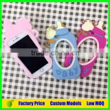 Monkey baby feeder custom Silicone mobile 3d phone case for Iphone 6 6plus cell phone back cover case