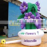 Customized design vivid inflatable flower with flowerpot                                                                                                         Supplier's Choice