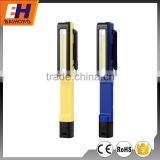3W COB Super Bright LED Pen Light with 3xAAA Batteries and clip on the Back
