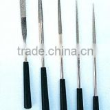 Electroplated diamond needle files