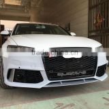 FOR AUDI A6 RS6 2016 A6 RS6 FRONT BUMPER PP BODY KITS BUMPER