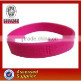 custom eco-friendly debossed 100%silicone bracelet/armband