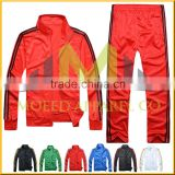 Custom Lastest Design 100% Trinda Grey & red men's & women's wholesale tracksuits