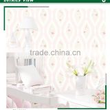 stock foaming non woven wallpaper, pastoral flower new material for interior decoration , best wall decal warehouse