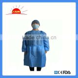 Sterile and productive disposable SMS surgical gown with factory price