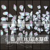 3d nail art decoration flat back square resin opal stone ZX:SZ572                                                                         Quality Choice