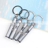 Promotional logo led metal key chain pen advertising logo mini led light ball pen drive key chains                                                                         Quality Choice
