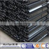 black bitumen coated metal star pickets