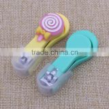custom logo silicone / plastic nail clipper baby nail clipper fashion nail cutter                                                                         Quality Choice