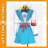 PGWC1989 Free shipping suzumiya haruhi cosplay costume or cartoon character costumes custom made high quality