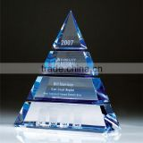 Crystal factory directly sale Business gifts K9 crystal Pyramids model crystal craft gift
