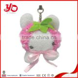 Wholesale animal toy bunny plush rabbit keychain,stuffed bunny keychain