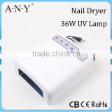 New Pure White Color Professional UV Nail Lamp 36W Electronic Ballast Nail Dryer