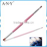 ANY Nali Art Beauty Care Wood Handle Art Brush Two-sides