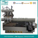 Air cooling low price HG-1325AH3 Shift Spindle 3D&relief Wood cnc router with rotary axis