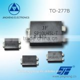 SP10U45L-T Low VF Schottky Diode with TO277 package