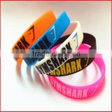 Hot sale cool design watch shape led flashlight wristband customize silicone wristband bracelet