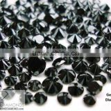 Natural Loose Black Diamond Round Brilliant Cut MM Size