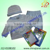 new born baby clothes gift set 3 pcs set for autumn 2014