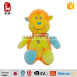 BSCI Audit Colorful Baby Toys Soft Plush Cartoon Toy Monkey