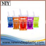plastic salad shaker cup with fork