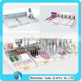 OEM PMMA acrylic cosmetic point of sale display, makeup display unit, cosmetic display set