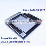 2nd HDD Hard Drive Caddy for Dell E6410 E6510 E4300 E4310 M4500 esata to sata