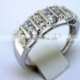 QCR054 designer hotsale sterling silver rings,lead&nickle free wholesale class 925 rings in rhodium plating