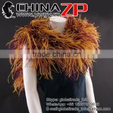 Leading Supplier CHINAZP Bulk Sale Wonderful Dyed Brown with Burgundy 35Gram Weight Ostrich Feathers Boa for Girls
