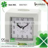 Electrionic LED backlight Ananlog Table beep alarm clock with good quality BB07601