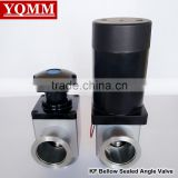 KF50 bellow sealed stainless steel electric actuated vacuum angel valve