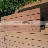 2015 new product construction building modern house wood plastic composite wpc garden bench