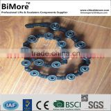 KM5070679G01 ESCALATOR REVERSE GUIDE CHAIN COMPLETE GLAS-10 BAL-1000 R20 (28 rollers pares)