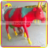 KANO0353 Outdoor Decorative Statue Fiberglass Life Size Cow For Sale