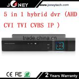 Cctv Dvr 16 Channel Cctv Dvr Standalone 5 in 1 AHD CVI TVI CVBS IP camera input hybrid dvr