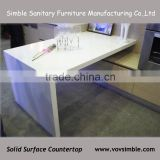 china manufactory cheap solid surface countertop,high quality man-made stone kitchen countertops